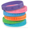 Promotional Sports Custom Debossed Silicone Bracelet