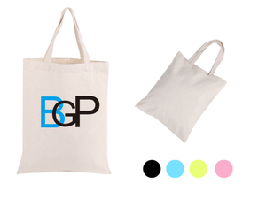 Custom Logo Cotton Canvas Tote Shopping Grocery Bag