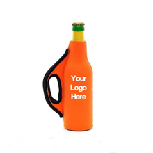 Custom Beer Bottle Cooler Sleeve with Handle
