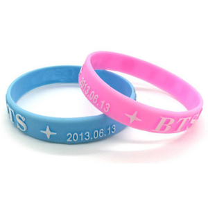 Imprinted Glow In Dark Embossed Color Printed Bracelets