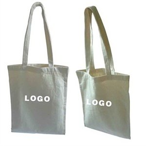 Printed Cotton Canvas Shopping Tote Bag