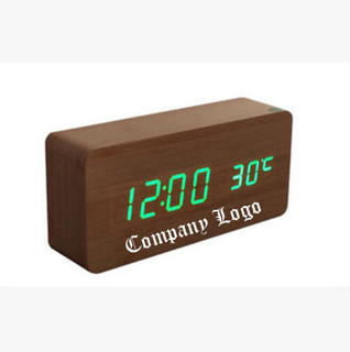 Personalized Wooden LED Digital Alarm Clock
