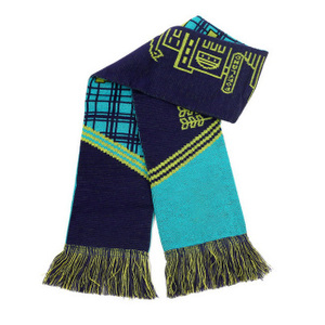 Knitted Sport Long Scarf With Fringe