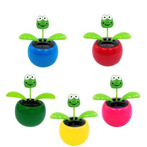 Home Car Solar Dancing Toy Flowerpot