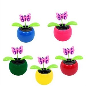 Print Decorative Swing Solar Flower Toy Plant Bobble