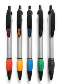 Clicker Pen with Soft Grip