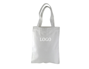 Printed Logo 9oz Natural Cotton Tote Shopping Bag