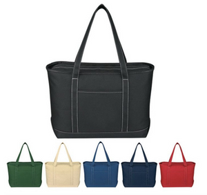 Large Cotton Canvas Yacht Tote Bag