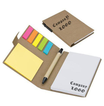 Customized Eco Memo Notebook With Sticky Flags & Pen