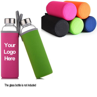 Customized Neoprene 10oz Water Bottle Sleeve With Handle