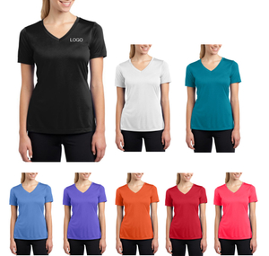 Women's Short-Sleeve V-neck Jersey Tees