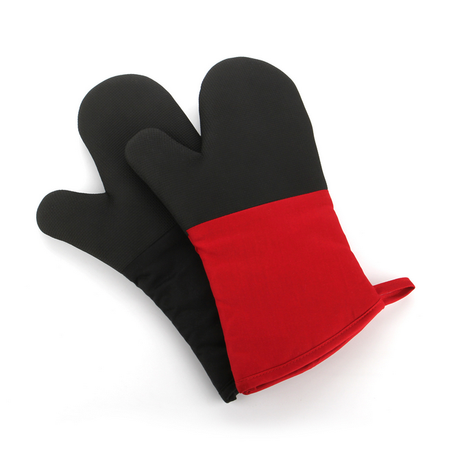 BBQ Microwave Oven Heat Protective Mitts 1 Pair