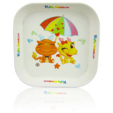 "Print 6"" Kids Square Melamine Dinner Plate"