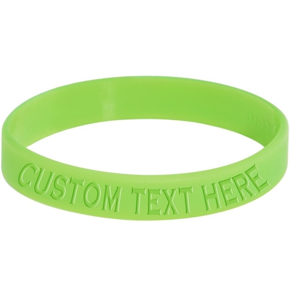 Print Debossed Glow In Dark Silicone Wristbands