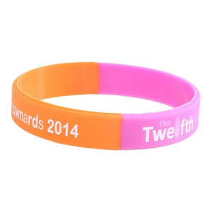Custom Silkscreen Segmented Awareness Silicone Bracelets