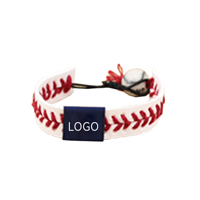 Sports Leather Baseball Bracelet Handband