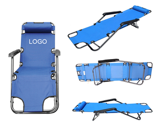 Folding Beach Chair With Adjustable Back