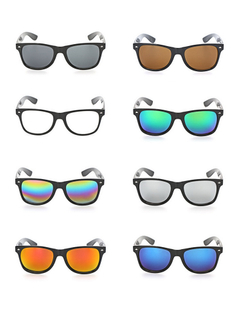 Color Mirrored Lenses Party Sunglasses