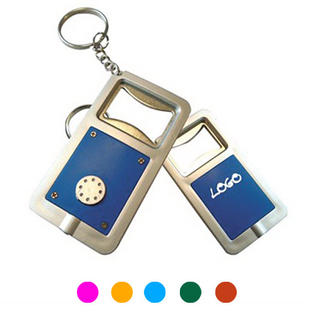 LED Light Keychain With Bottle Opener