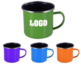 Colorful Enamel Mug With Stainless Steel Rim