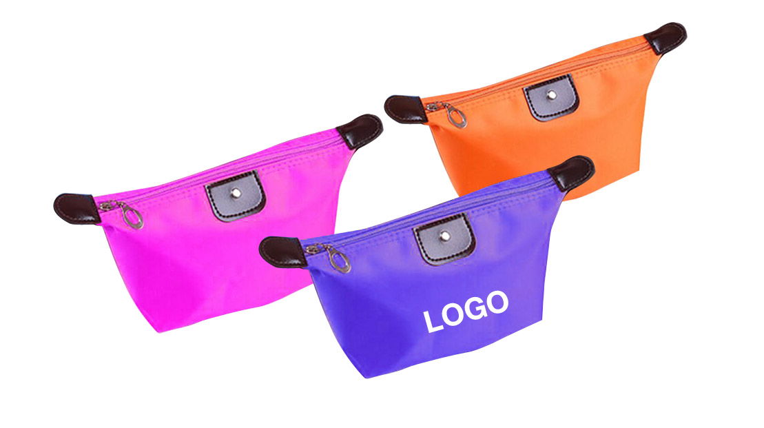 "Waterproof Portable Custom Logo Comestic Wash Bag-10.6 "" x 4.7 "" x 2.8 """