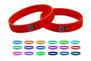Custom Debossed Embossed Screen Silicone Bracelet