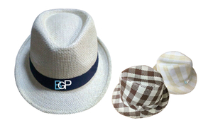 Fashion Promotional Custom Straw Fedora Hat
