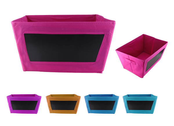 Collapsible Storage Bin Toys Organizer With Chalkboard