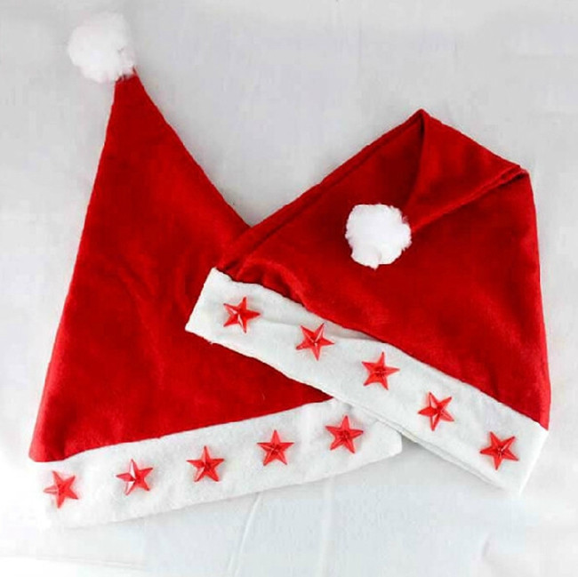 Custom Logo LED Christmas Santa Hat