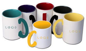 Promotional Two-ToneColor Porcelain Coffee Mug 17oz