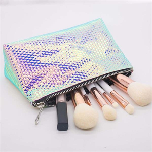 Fashion Cosmetic Bag With Metal Label