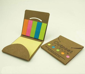Personalized Eco Sticky Note & Flag Booklet In Pocket Case