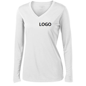 Imprinted Ladies Long Sleeve Moisture Wicking Athletic Shirts