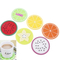 Customized Fruit Silicone Drinks Coasters