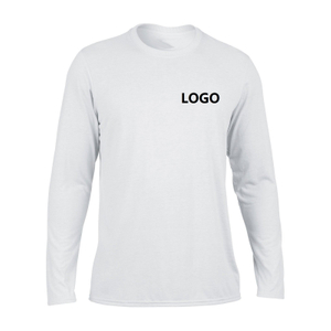 Customized Mens Polyester Long Sleeve Sports T-Shirt