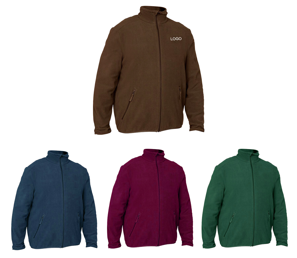 Windproof Lightweight Full Zip Fleece Jacket