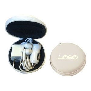 Promotional USB Headphone Charger Travel Kit