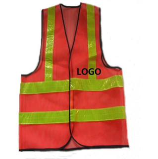 Personalized High Visibility Vest Jacket with Reflective Tape