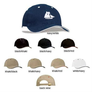 Imprinted Brushed Cotton Sandwich Bill Cap