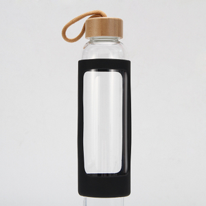 20 oz. Glass Water Bottles with Silicone Sleeve