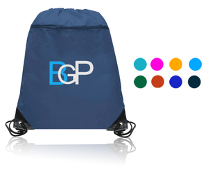 Drawstring Backpack Bag With Zipper Pocket